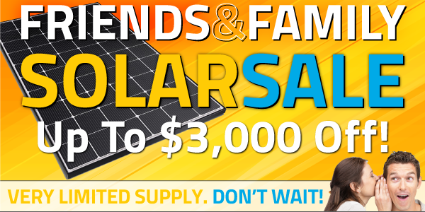 Save $3,000 on a full solar energy system!
